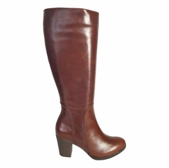 Brora Extra Wide Calf Ladies Boot Cognac Street