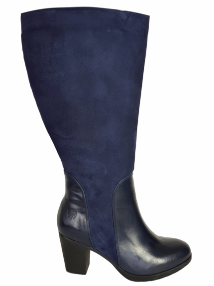 Brora Extra Wide Calf Ladies Boot Ocean Nappa/Suede