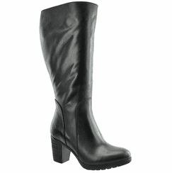 Brora Super Plus Wide Calf Ladies Boot Black Nappa Capri