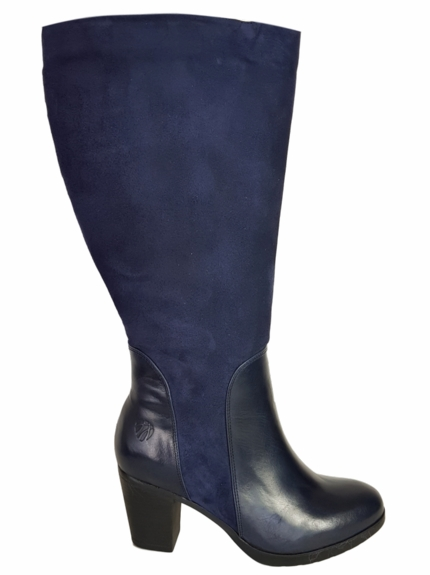 Brora Super Plus Wide Calf Super Plus Wide Calf Ladies Boot Ocean Nappa/Suede