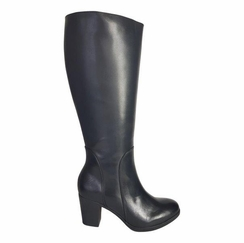 Brora Super Wide Calf Ladies Boot Black Nappa Capri