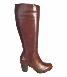 Brora Super Wide Calf Ladies Boot Cognac Street