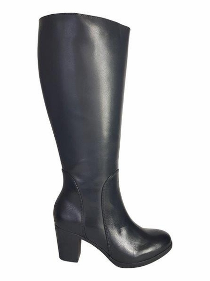 Brora Wide Calf Ladies Boot Black Nappa Capri