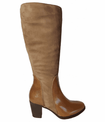 Brora Wide Calf Ladies Boot Taupe Nappa/Suede