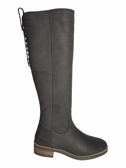 Burton Extra Wide Calf Extra Wide Calf Ladies Boot Black Grain Nubuck