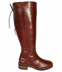 Burton Extra Wide Calf Ladies Boot Cognac Old Bristol