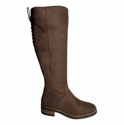 Burton Extra Wide Calf Ladies Boot Espresso Grain Nubuck