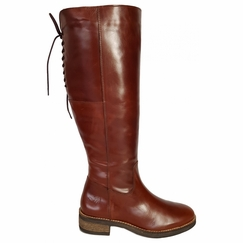 Burton Wide Calf Ladies Boot Cognac Old Bristol