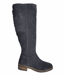 Burton Wide Calf Ladies Boot Ocean Suede