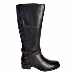 Buxton Extra Wide Calf Extra Wide Calf Ladies Boot Black Silk