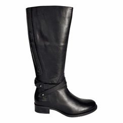 Buxton Extra Wide Calf Ladies Boot Black Silk