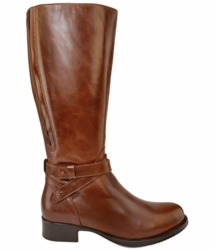 Buxton Extra Wide Calf Ladies Boot Cognac Street