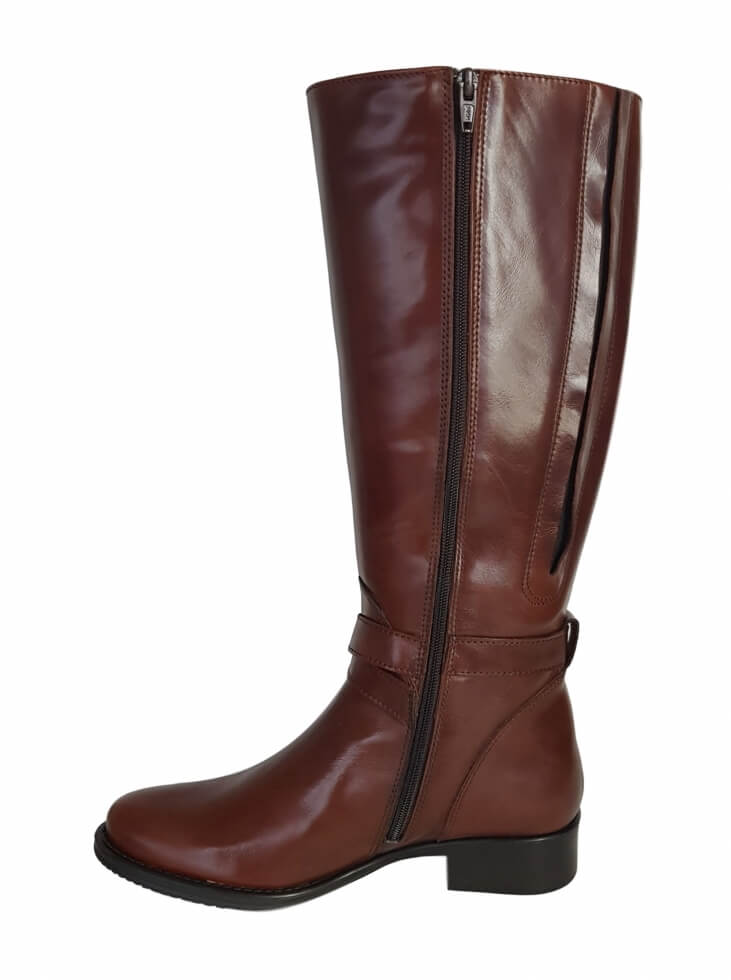 5a19a27116a Buxton Extra Wide Calf Ladies Boot Cognac Street - Wide Calf Casual ...