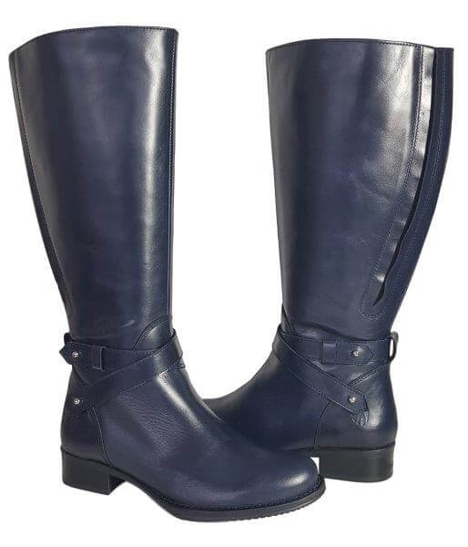 4273f4091ec Buxton Extra Wide Calf Ladies Boot Ocean Silk - Wide Calf Casual Boots