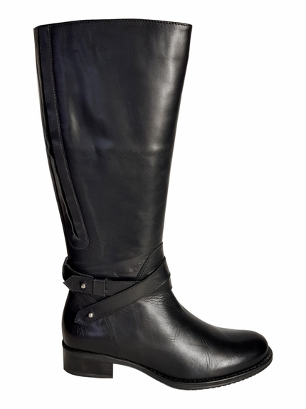 Buxton Super Plus Wide Calf Super Plus Wide Calf Ladies Boot Black Silk