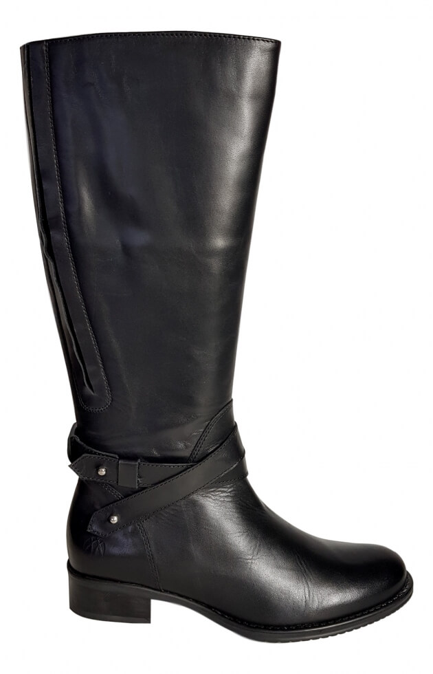 557875d6e98 Buxton Super Wide Calf Ladies Boot Black Silk - Wide Calf Casual Boots