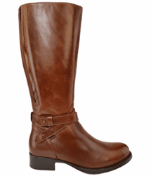Buxton Super Wide Calf Ladies Boot Cognac Street