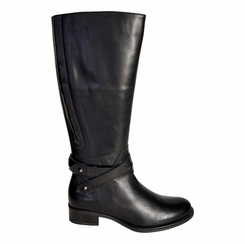 Buxton Wide Calf Ladies Boot Black Silk