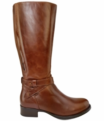 Buxton Wide Calf Wide Calf Ladies Boot Cognac Street