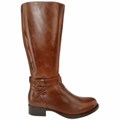 Buxton Wide Calf Ladies Boot Cognac Street