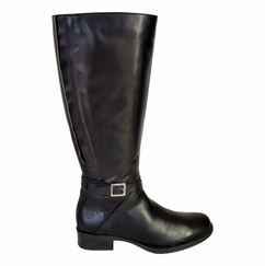 Caen Wide Calf Ladies Boot Black Nappa/Nappa croco print