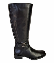 Caen Wide Calf Wide Calf Ladies Boot Black Nappa/Nappa croco print