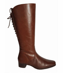 Cardiff Extra Wide Calf Ladies Boot Cognac Street