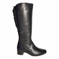 Cardiff Super Wide Calf Ladies Boot Black Nappa