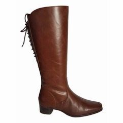 Cardiff Super Wide Calf Ladies Boot Cognac Street