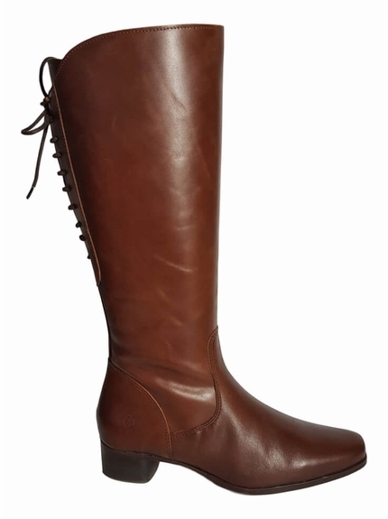 Cardiff Wide Calf Ladies Boot Cognac Street