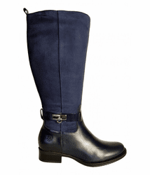 Cheddar Extra Wide Calf Ladies Boot Ocean Street/Suede