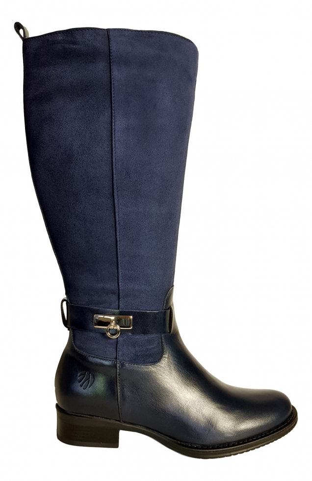 new appearance picked up new product Cheddar Extra Wide Calf Ladies Boot Ocean Street/Suede