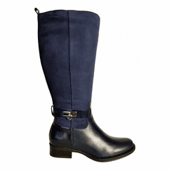 Cheddar Wide Calf Ladies Boot Ocean Street/Suede