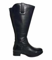 Chinley Extra Wide Calf Ladies Boot Black Silk