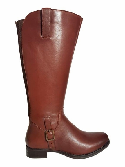 Chinley Extra Wide Calf Ladies Boot Cognac Street