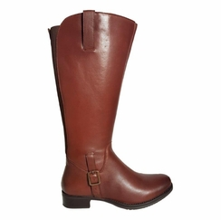 Chinley Super Wide Calf Ladies Boot Cognac Street