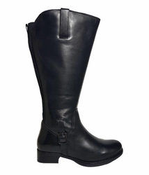 Chinley Wide Calf Wide Calf Ladies Boot Black Silk