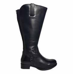 Chinley Wide Calf Ladies Boot Black Silk