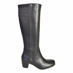 Crofton Extra Wide Calf Ladies Boot Black Nappa/Feudo