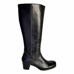 Crofton Wide Calf Ladies Boot Black Nappa/Rider
