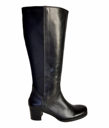 Crofton Wide Calf Wide Calf Ladies Boot Black Nappa/Rider