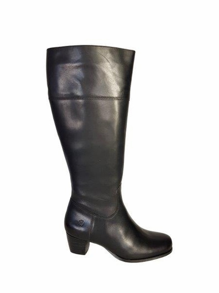 Ellon Extra Wide Calf Ladies Boot Black Nappa