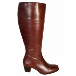 Ellon Extra Wide Calf Ladies Boot Cognac Street