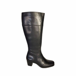 Ellon Super Wide Calf Super Wide Calf Ladies Boot Black Nappa
