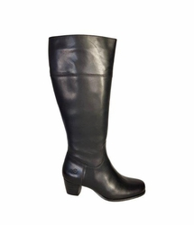Ellon Wide Calf Wide Calf Ladies Boot Black Nappa