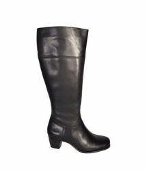 Ellon Wide Calf Ladies Boot Black Nappa