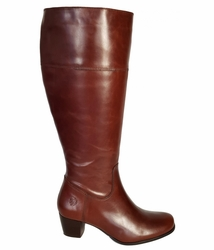 Ellon Wide Calf Wide Calf Ladies Boot Cognac Street