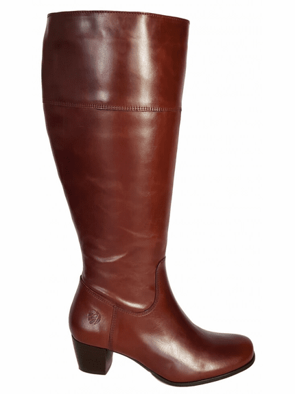 Ellon Wide Calf Ladies Boot Cognac Street
