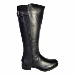 Kempten Extra Wide Calf Ladies Boot Black Cow Nappa