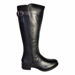 Kempten Super Wide Calf Ladies Boot Black Cow Nappa